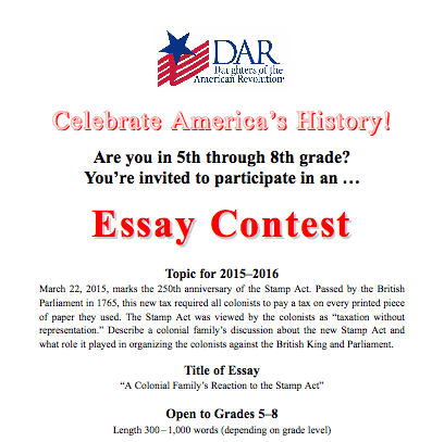 5th grade essay on american revolution